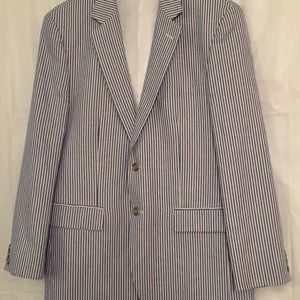 Alan Flusser Striped  Sport Coat Jacket Blazer 42R